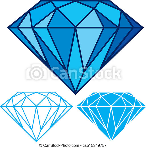 blue diamond clipart vector search illustration drawings and eps rh canstockphoto com diamond vector image diamond vector logo