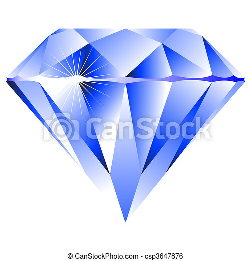 blue diamond isolated on white - csp3647876
