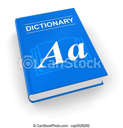 Blue dictionary - csp3528282