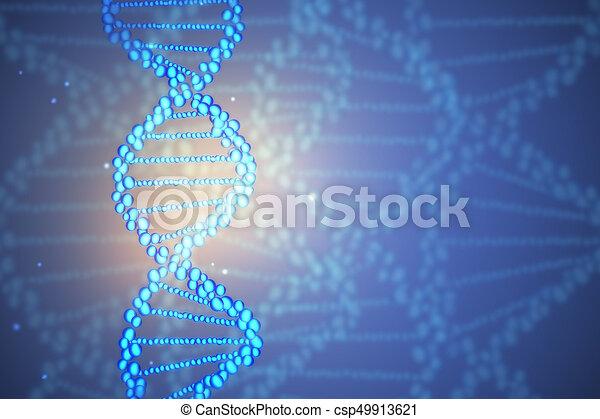 Blue Dna Wallpaper Abstract Molecule Medicine