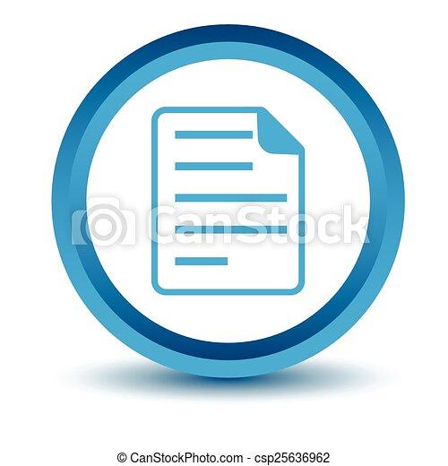 Blue document icon - csp25636962