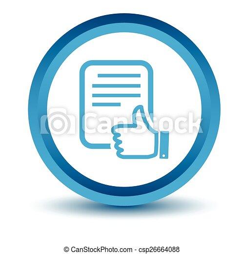 Blue Document icon - csp26664088