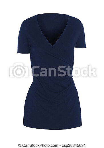 blue dress isolated on white - csp38845631