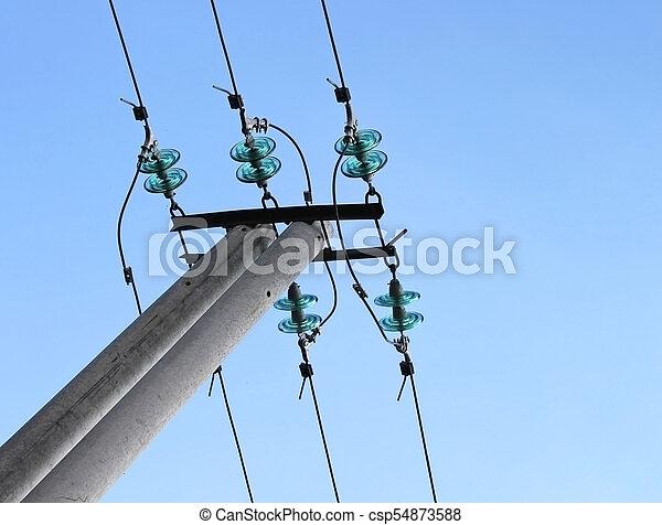 Blue electrical insulator (dielectric)
