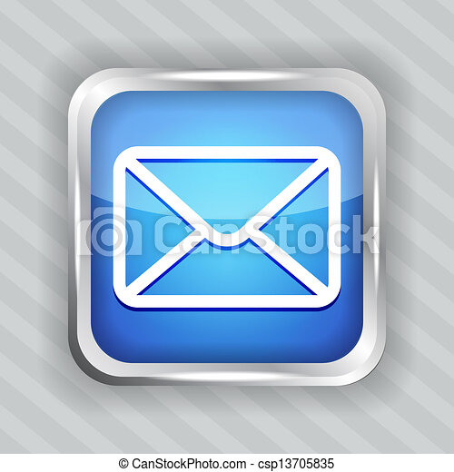 blue email button icon - csp13705835