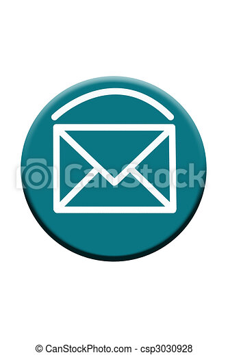 Blue Email Button Icon - csp3030928