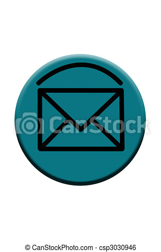 Blue Email Button Icon - csp3030946