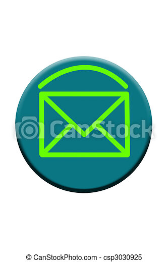 Blue Email Button Icon - csp3030925