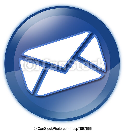 Blue email button - csp7897666