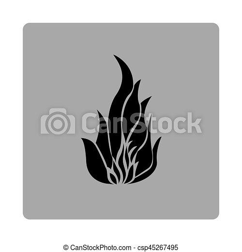 blue emblem fire icon - csp45267495