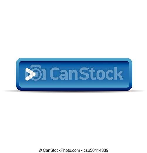 Blue empty button vector - csp50414339