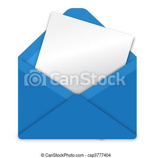 Blue envelope - csp3777404