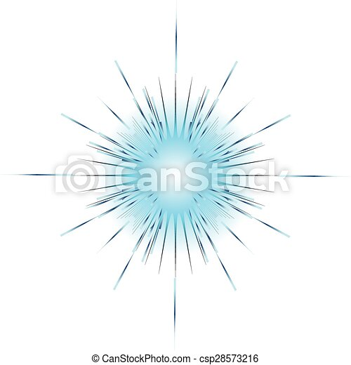 blue explosion on white background vector illustration - csp28573216
