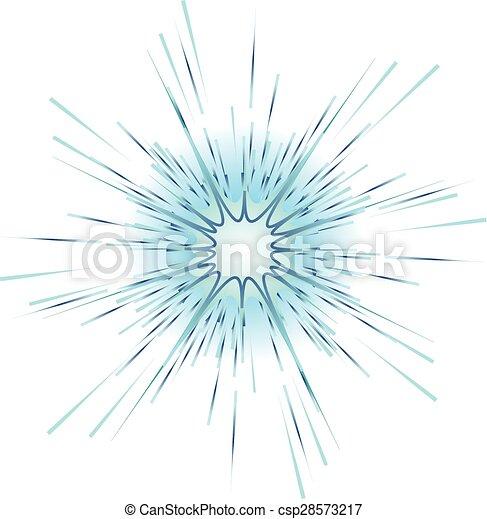 blue explosion on white background vector illustration - csp28573217