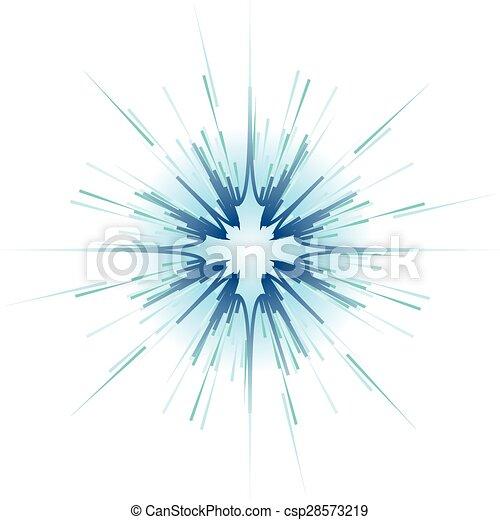 blue explosion on white background vector illustration - csp28573219