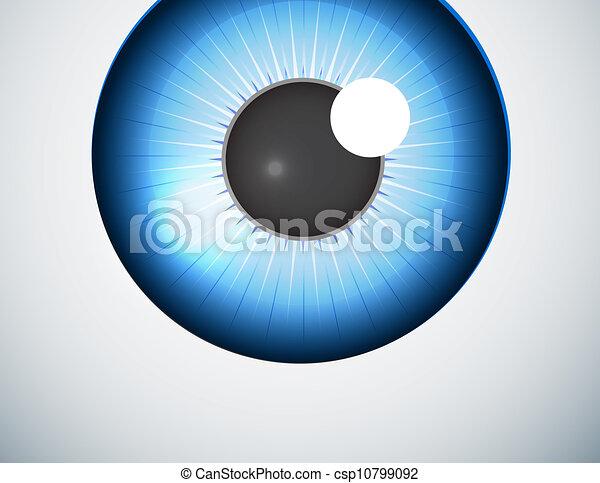 Blue eye ball background - csp10799092