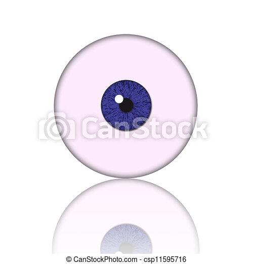blue eye ball - csp11595716