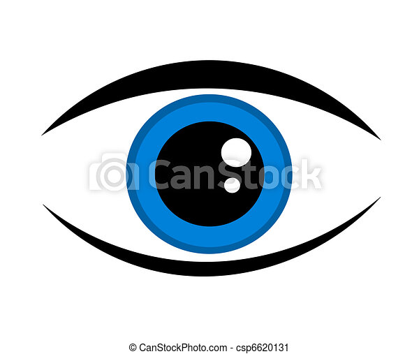 Blue eye icon - csp6620131