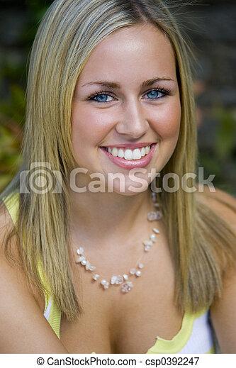 Blue Eyes Big Smile Too - csp0392247
