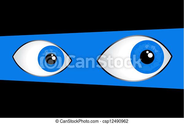 Blue eyes - csp12490962