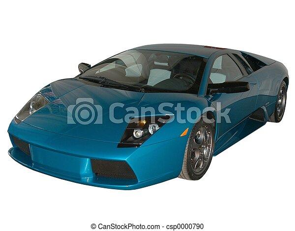 Blue fast car - csp0000790