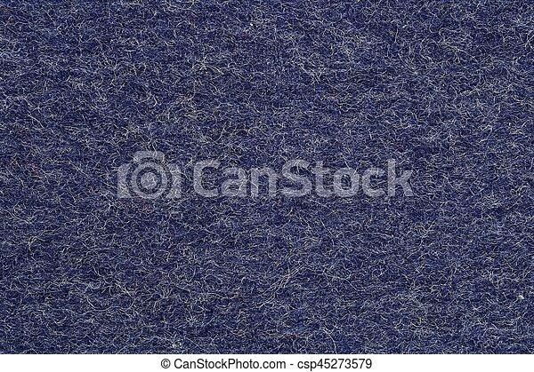 Blue felt background - csp45273579