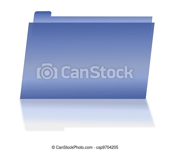 Blue File Folder with Shadow - csp9704205