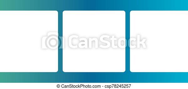 Blue Film Strip Border - csp78245257