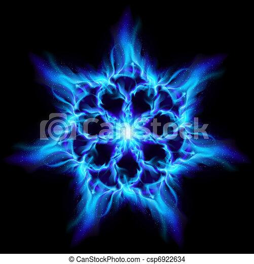 Blue fire flower - csp6922634