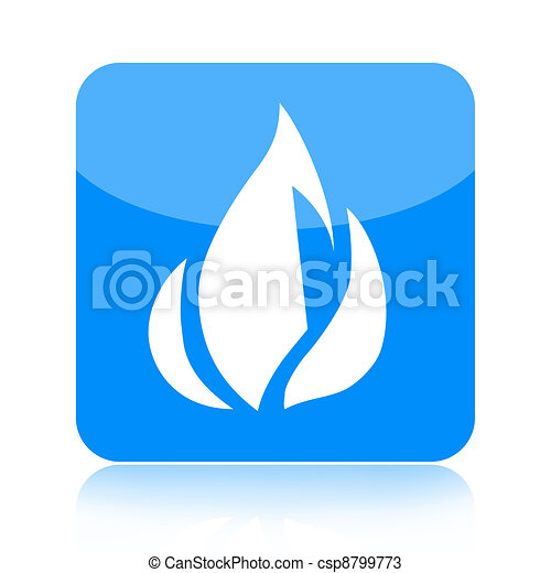Blue Fire Icon - csp8799773