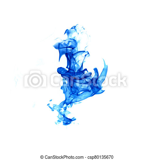 blue flame isolated on white background - csp80135670