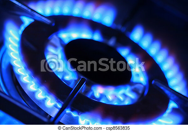 Blue flame of gas.  - csp8563835