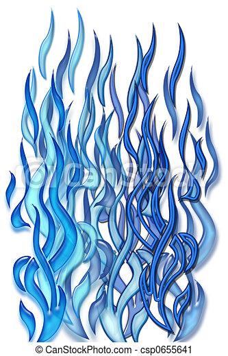 Blue flames - csp0655641