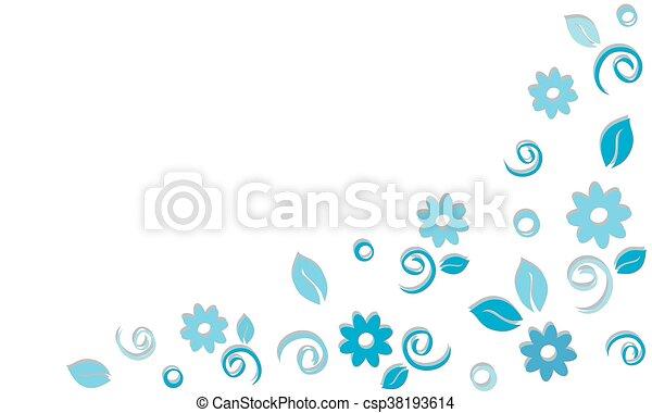 blue floral background - csp38193614