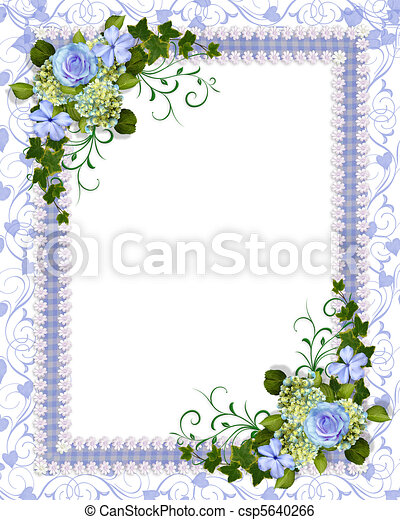 Blue Floral Invitation Template Illustration And Image Composition