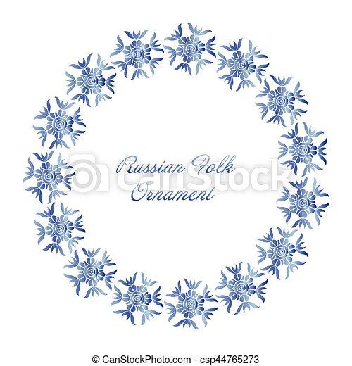 Blue flower in gzhel style - csp44765273