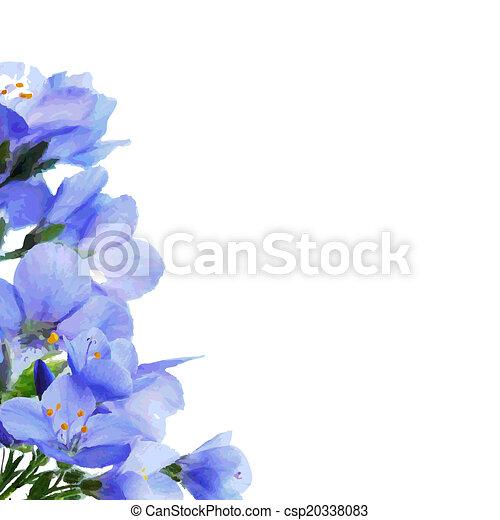 Blue Flowers Border - csp20338083