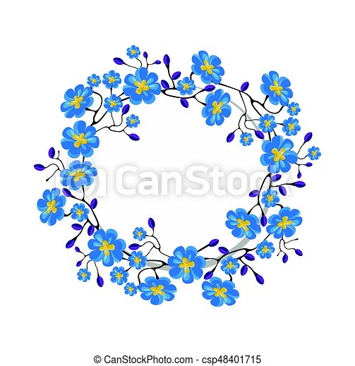 Blue Flowers Crown For Birthday Invitations Wedding Events Festival Spring Summer Floral