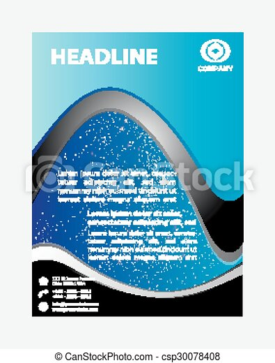 Blue Flyer Template Vector Clipart  Search Illustration Drawings