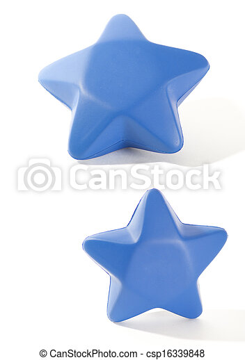 Blue Foam Star - csp16339848