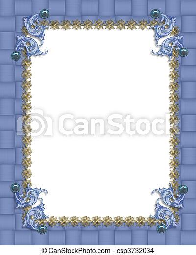 Blue formal invitation border illustration composition for blue formal invitation border stock illustration stopboris Choice Image