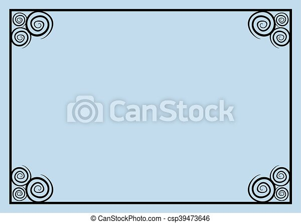 blue frame background - csp39473646