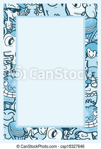 Blue frame - csp18327646