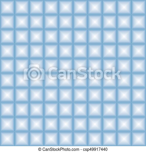 Blue geometric seamless pattern - csp49917440