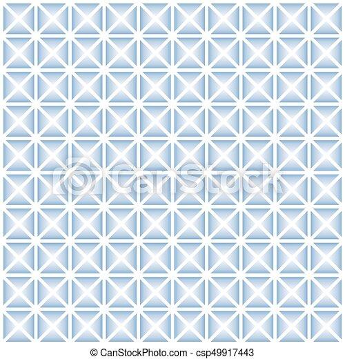 Blue geometric seamless pattern - csp49917443