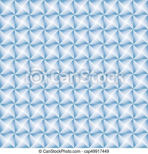 Blue geometric seamless pattern - csp49917449