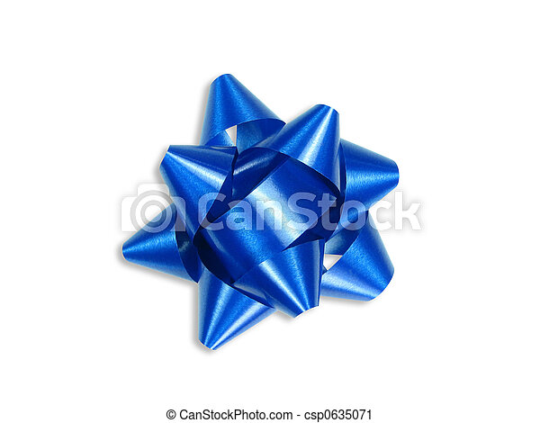 Blue gift bow (+ clipping path) - csp0635071