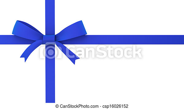 Blue gift bow - csp16026152