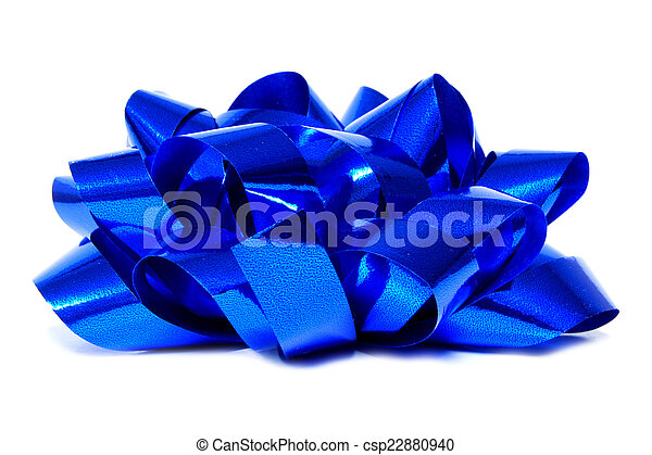 Blue gift bow - csp22880940