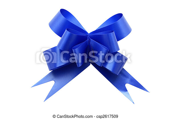 Blue Gift Bow - csp2617509